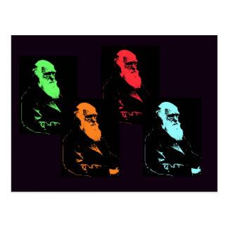 Collage de Charles Darwin Carte Postale