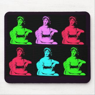 Collage de Jane Austen Tapis De Souris