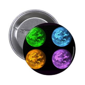 Collage de la terre de planète badge avec épingle
