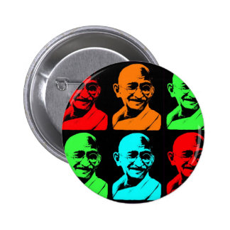 Collage de Mahatma Gandhi Macaron Rond 5 Cm