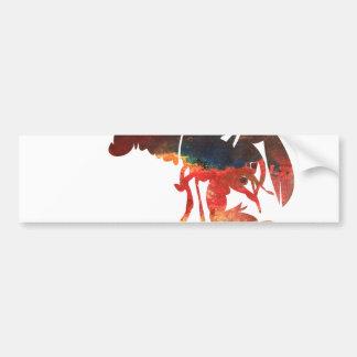 Collage de médias mélangés de homard autocollant de voiture