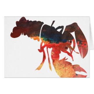 Collage de médias mélangés de homard carte de vœux