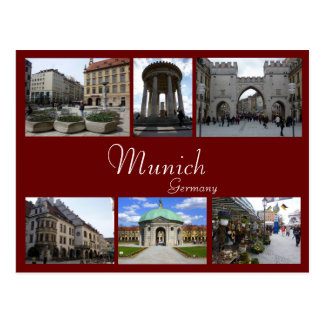 Collage de Munich Carte Postale
