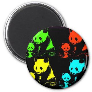 Collage de panda aimants