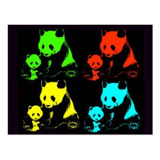 Collage de panda carte postale