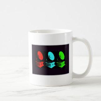 Collage de phonographe tasse à café