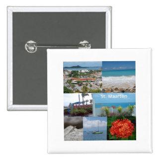 Collage de photo de Maarten de Maarten-Saint de Si Macaron Carré 5 Cm