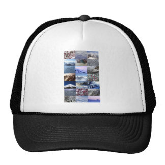 Collage de photo de neige casquette de camionneur