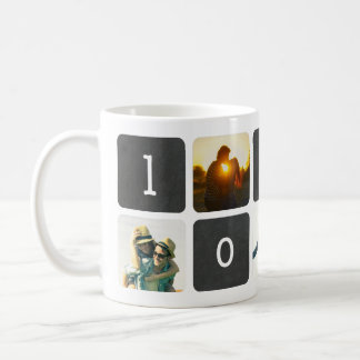 Collage de photo de tableau d'AMOUR Mug Blanc