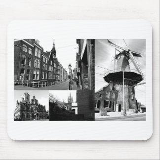 Collage de photo Delft 1 en noir et blanc Tapis De Souris