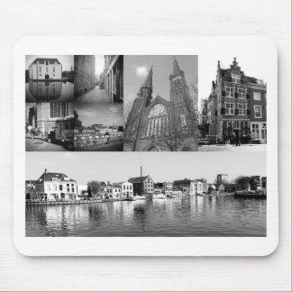 Collage de photo Delft 4 en noir et blanc Tapis De Souris
