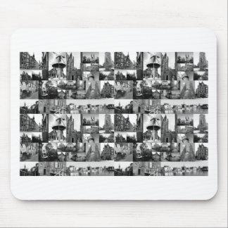 Collage de photo Delft 6 en noir et blanc Tapis De Souris