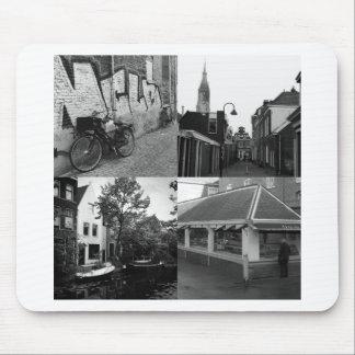 Collage de photo Delft 7 en noir et blanc Tapis De Souris