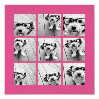 Collage de photo d'Instagram avec 9 photos carrées