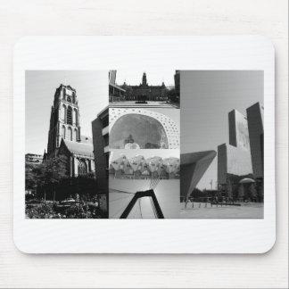 Collage de photo Rotterdam 1 en noir et blanc Tapis De Souris