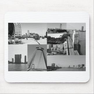 Collage de photo Rotterdam 2 en noir et blanc Tapis De Souris