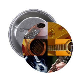 Collage de photos de guitare macaron rond 5 cm