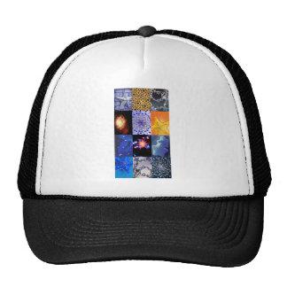 Collage de photos d'étoiles de bleu et d'or casquette de camionneur