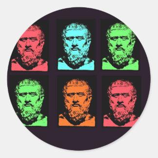 Collage de Platon Autocollant Rond