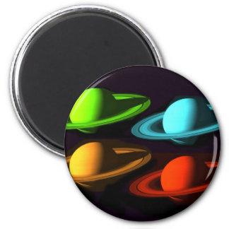Collage de Saturn Magnets Pour Réfrigérateur