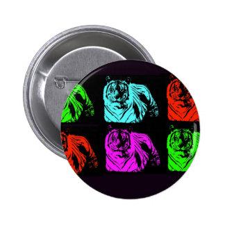 Collage de tigre de Bengale Badges