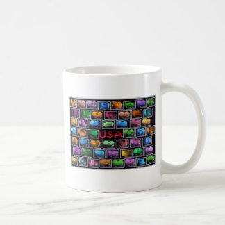 Collage d'états des Etats-Unis Tasses À Café