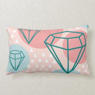 Collage Diamond Patterns Lumbar Pillow