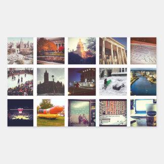 Collage fait sur commande de photo d'Instagram Sticker Rectangulaire