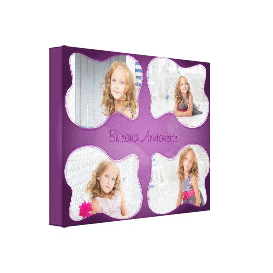 Collage Family Personalized Canvas Print