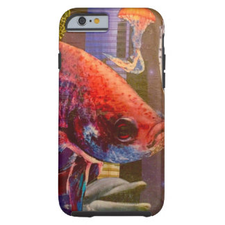 Collage fish jellyfish dolphin stars tough iPhone 6 case