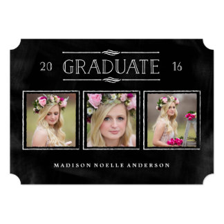 Collage in Chalk Graduation Invitation