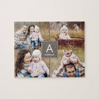 Collage Initial Custom Photo Puzzle