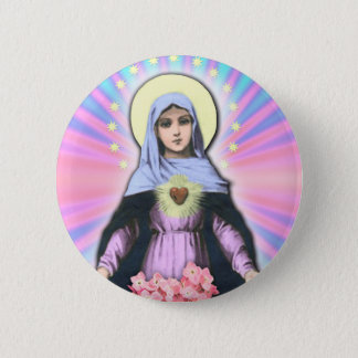 Collage Lady Mary - Gloria Sánchez 2 Inch Round Button
