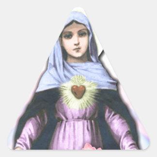 Collage Lady Mary - Gloria Sánchez Triangle Sticker