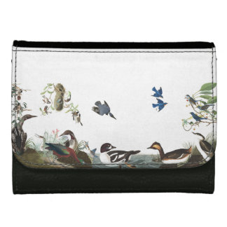 Collage of Audubon Birds Wildlife Loons Wallet