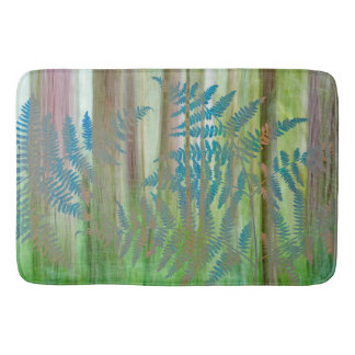 Collage of Bracken Ferns and Forest | Seabeck, WA Bath Mat