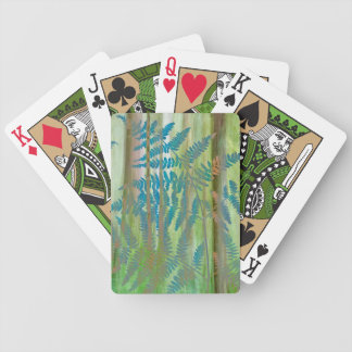 Collage of Bracken Ferns and Forest | Seabeck, WA Bicycle Playing Cards