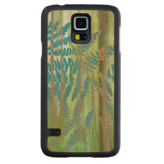 Collage of Bracken Ferns and Forest | Seabeck, WA Carved Maple Galaxy S5 Case