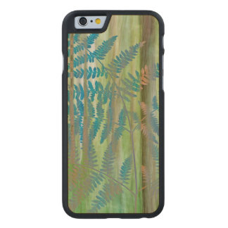 Collage of Bracken Ferns and Forest | Seabeck, WA Carved Maple iPhone 6 Case