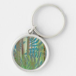 Collage of Bracken Ferns and Forest | Seabeck, WA Keychain