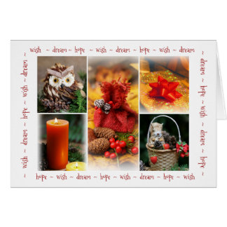 Collage of Christmas theme Card