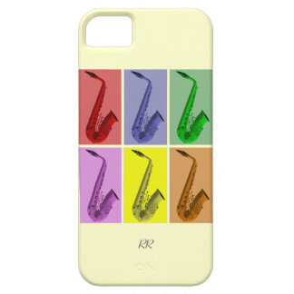 Collage of Colorful Saxophones iPhone 5 Case