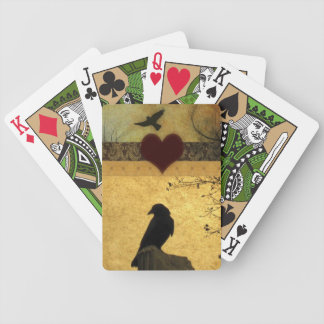Collage Of Crows Bicycle Playing Cards