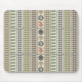 Collage of Currency Graphic Mouse Pad