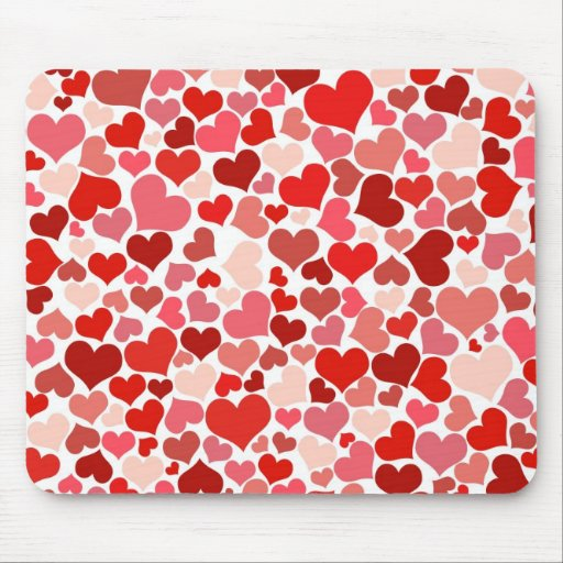 Collage of Hearts Mouse Pads