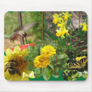Collage of Nature in Flight Mouse Pad