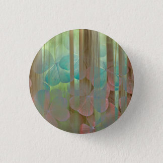 Collage of Oxalis and Trees   Seabeck, WA 1 Inch Round Button