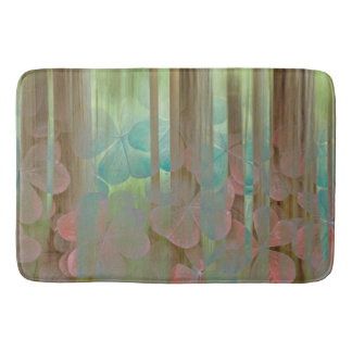 Collage of Oxalis and Trees | Seabeck, WA Bath Mat