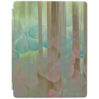 Collage of Oxalis and Trees   Seabeck, WA iPad Cover