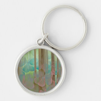 Collage of Oxalis and Trees | Seabeck, WA Keychain